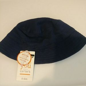 Carter's Newborn Navy Blue Bucket Hat UPF 40+